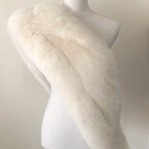 Fur Shawl Size O/S White